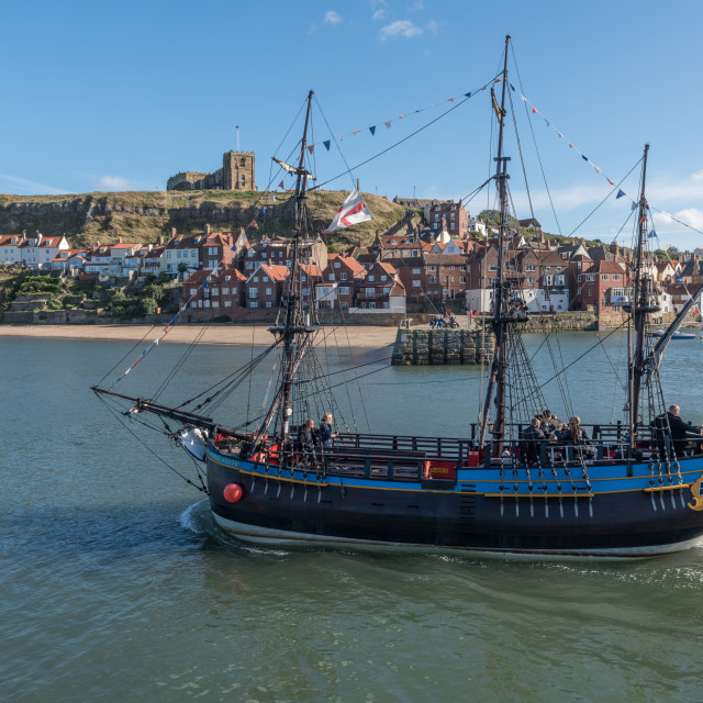 """The bark Endeavour at Whitby"" stock image"