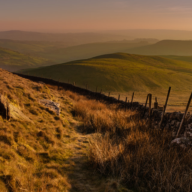 """Sunset on Shuttingsloe Hill, UK"" stock image"