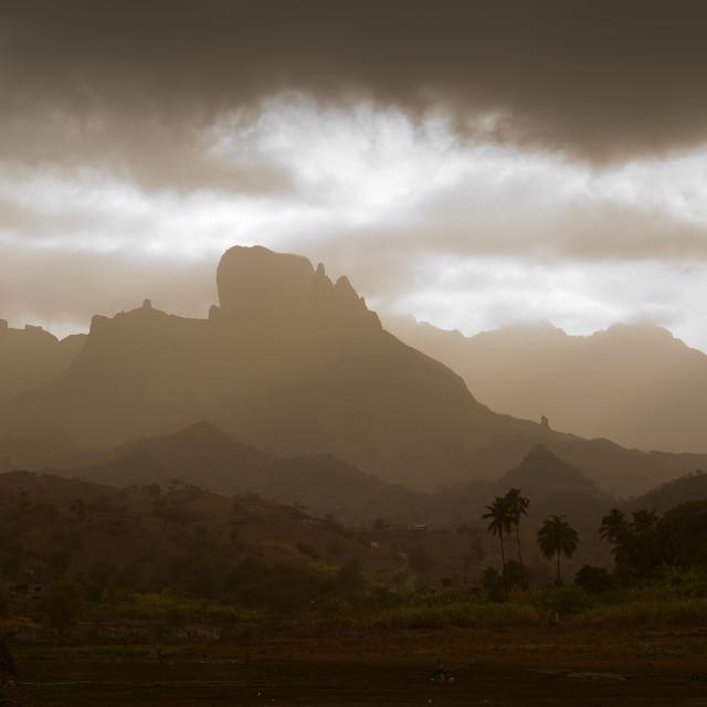 """Mountains in Santiago (Cape Verde)"" stock image"