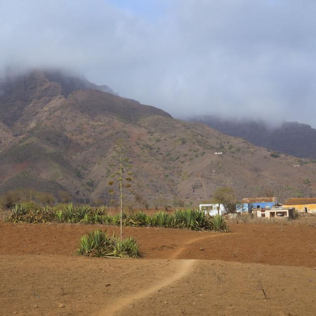 """Village in Cape Verde"" stock image"