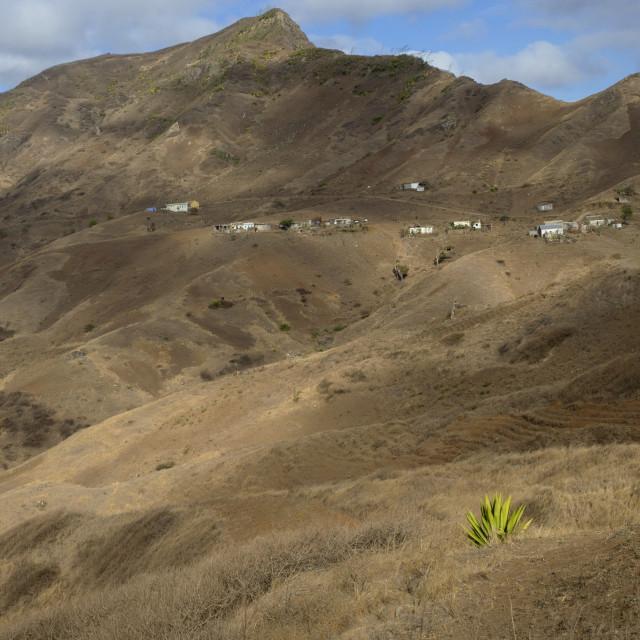 """Landscape in Santiago, Cape Verde"" stock image"