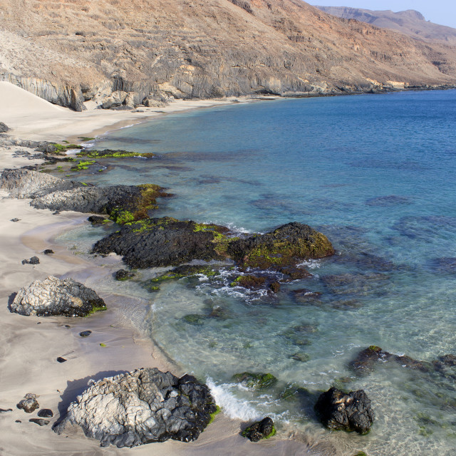 """A beach in Sao NIcolau Cape Verde"" stock image"