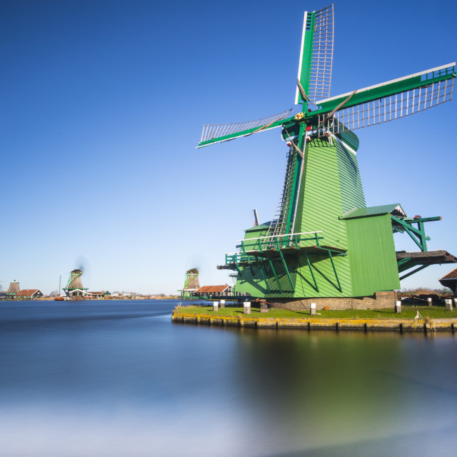 """Windmills The Crowned Poelenburg"" stock image"