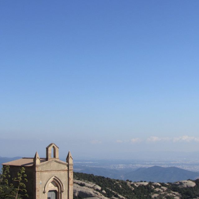 """Montserrat mountain"" stock image"