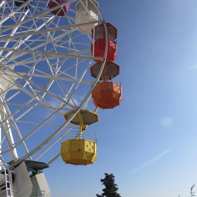 """Tibidabo Ferris wheel"" stock image"