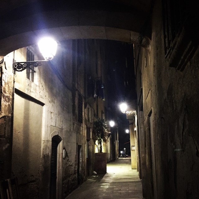 """""""Gothic alleys"""" stock image"""
