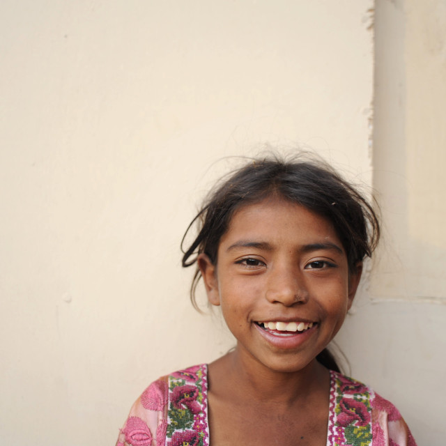 """A maya indigenous girl in Guatemala."" stock image"