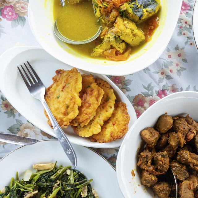 """Indonesia, Maluku, Seram, traditional Spice Islands cooking"" stock image"