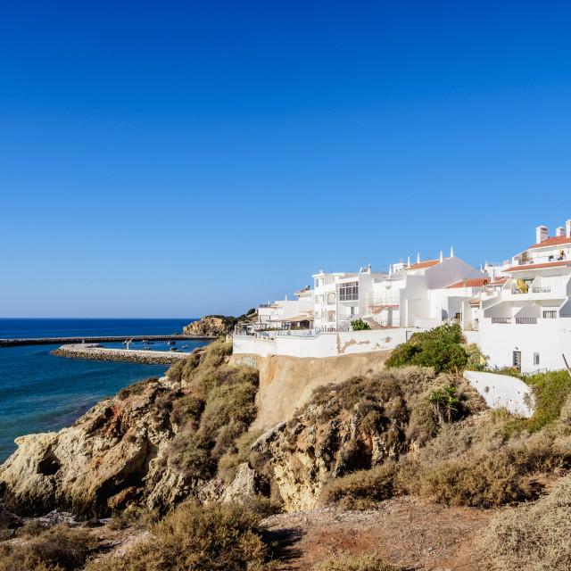 """""""Albufeira Cityscape, Algarve, Portugal"""" stock image"""