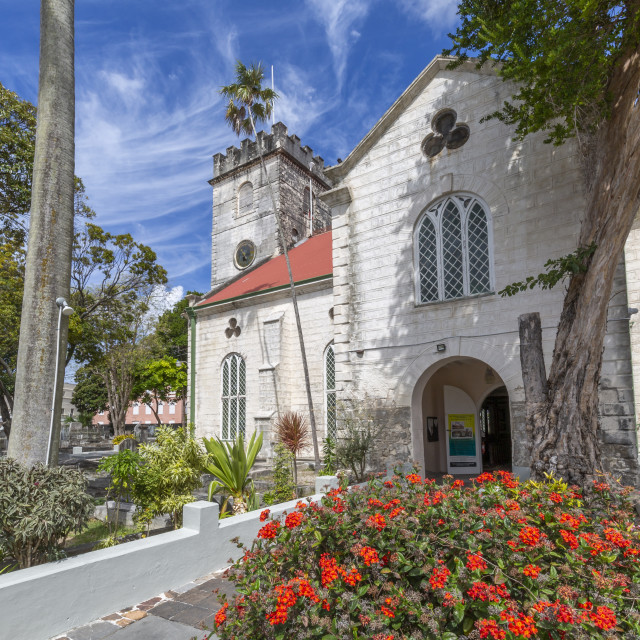 """""""St. Michael Anglican Cathedral, Bridgetown, Barbados, West Indies, Caribbean,..."""" stock image"""