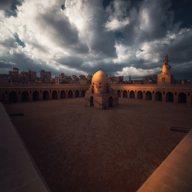 """""""Mosque under the clouds"""" stock image"""