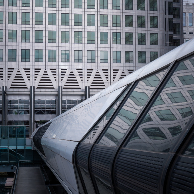 """""""Crossrail Place, Canary Wharf, London"""" stock image"""