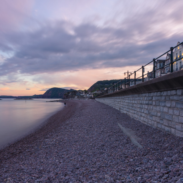 """""""Evening in Sidmouth"""" stock image"""