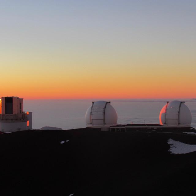 """Observatory sunset"" stock image"
