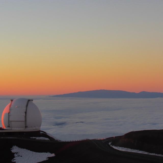 """Mauna Kea observatory"" stock image"