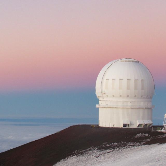 """""""Pastel skies on Mauna Kea"""" stock image"""