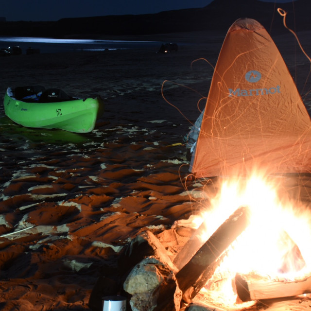 """Lake Powell camp"" stock image"