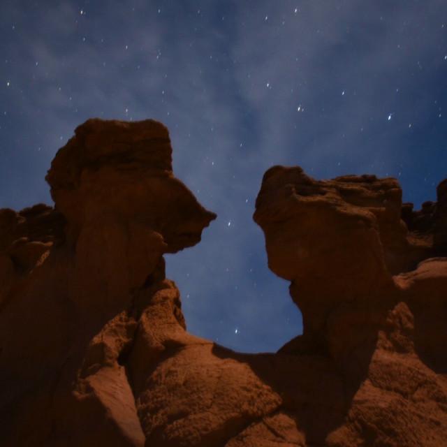 """""""Kodachrome at night"""" stock image"""