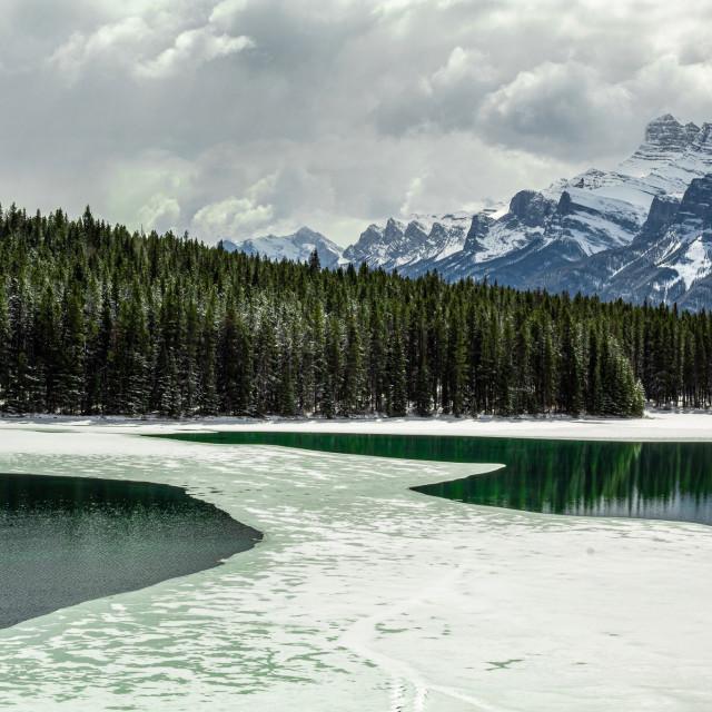 """Two Jack's Lake"" stock image"