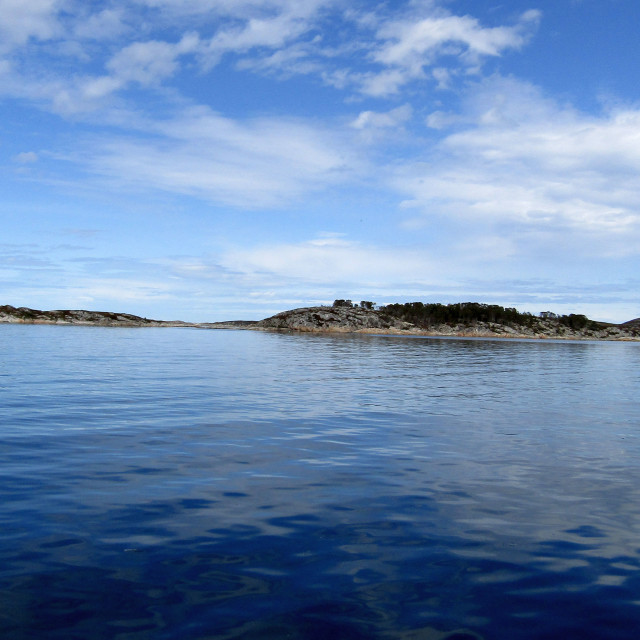 """Islands off coast of Froya, Norway"" stock image"