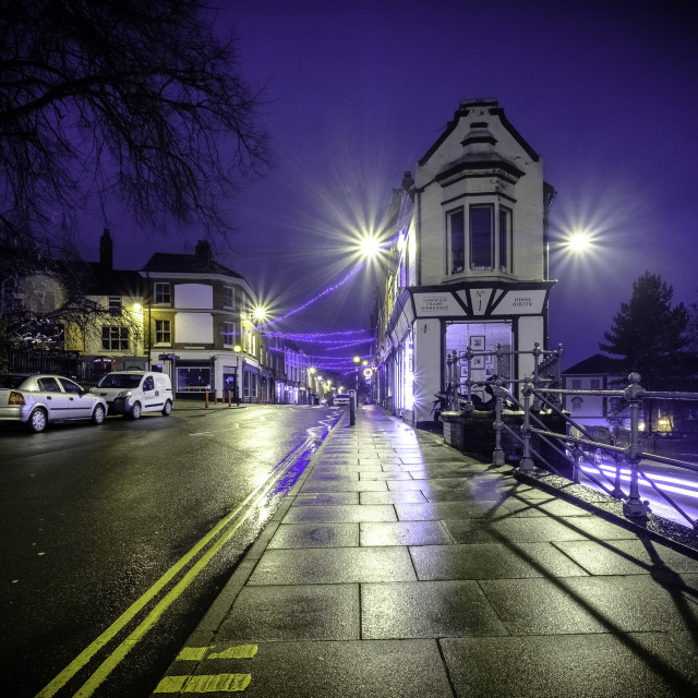 """""""Norwich at night - St Benedicts Street"""" stock image"""