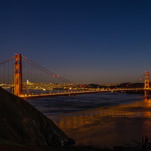 """Golden Gate Bridge Blue Hour"" stock image"
