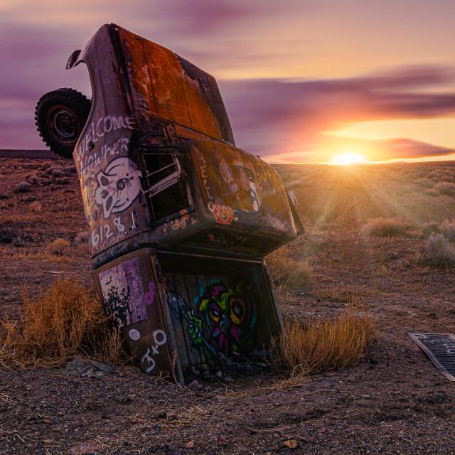 """The Last Sunset 2"" stock image"
