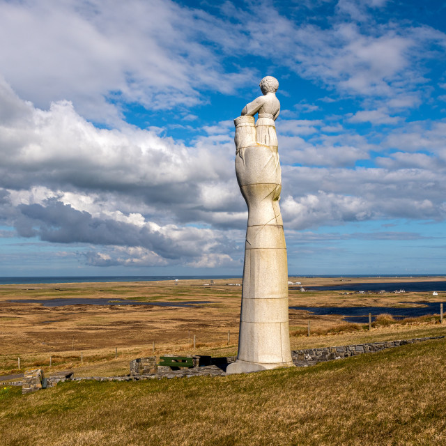 """""""Our Lady of the Isles South Uist"""" stock image"""