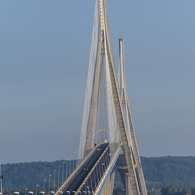 """""""Pont de Normandie"""" stock image"""