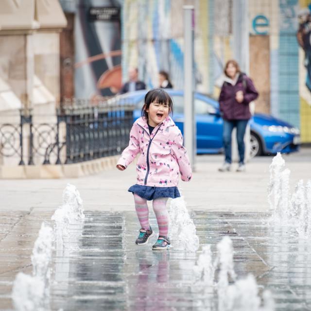 """""""Fountain Fun"""" stock image"""