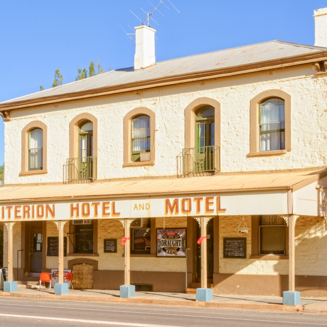 """Criterion Hotel Motel - Quorn"" stock image"