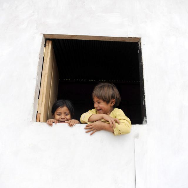 """Maya indigenous children in Guatemala."" stock image"