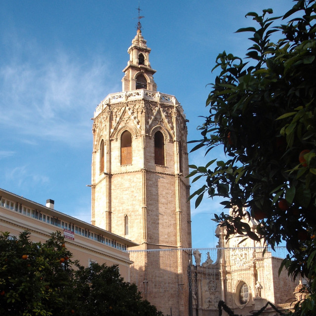 """""""Valencia Cathedral Bell Tower"""" stock image"""