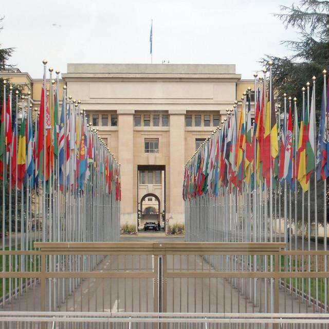 """""""United Nations Geneva"""" stock image"""