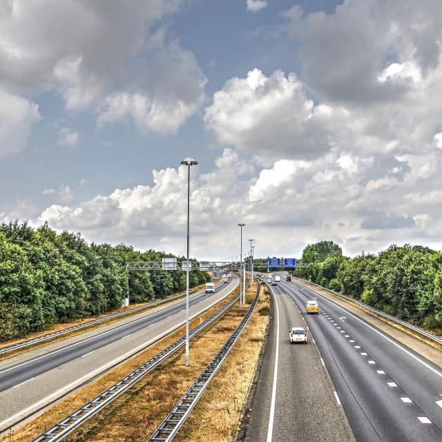 """A58 motorway near Breda"" stock image"
