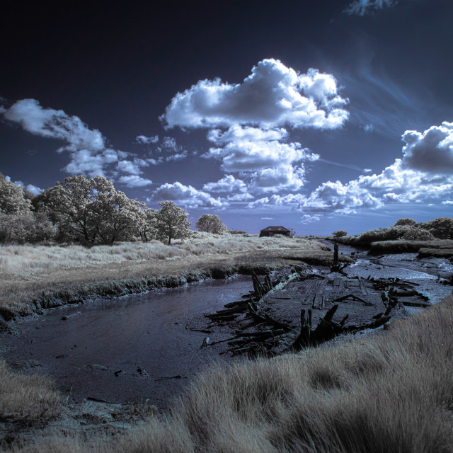 """Beaumont Quay in Infra Red"" stock image"
