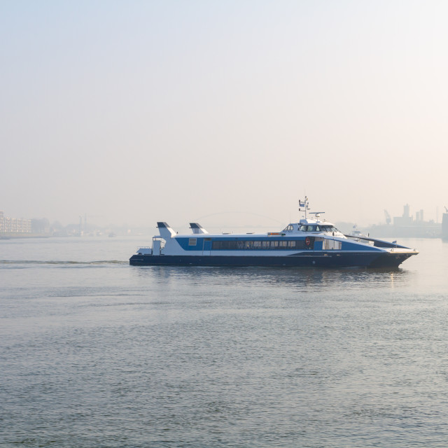 """""""Ferry boat passing"""" stock image"""