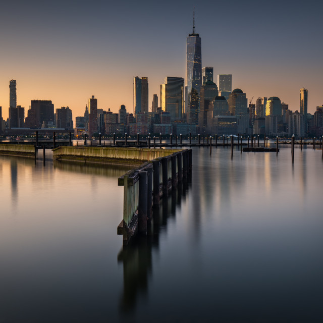 """New York Sunrise"" stock image"
