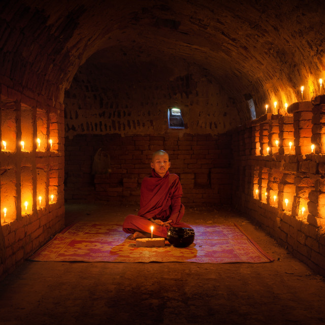 """Buddhist Monk"" stock image"