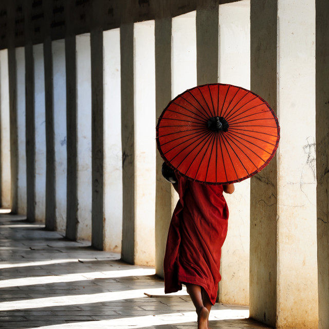 """Walking Monk"" stock image"