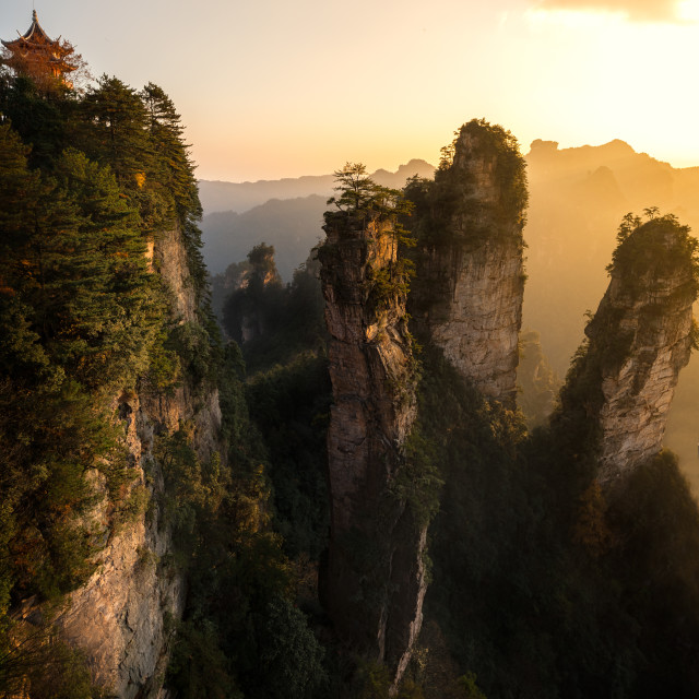 """Zhangjiajie Sunset"" stock image"