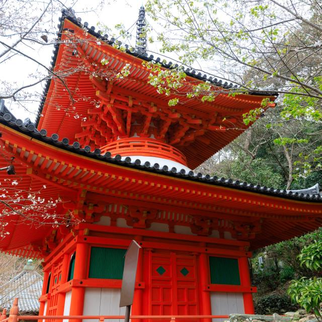 """Kimiidera Japanese temple"" stock image"