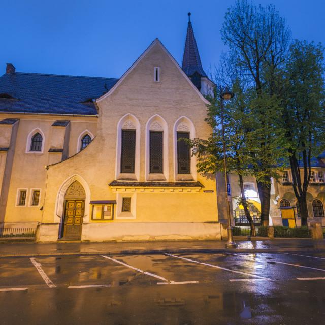 """""""St John Lutheran Church in Sibiu"""" stock image"""