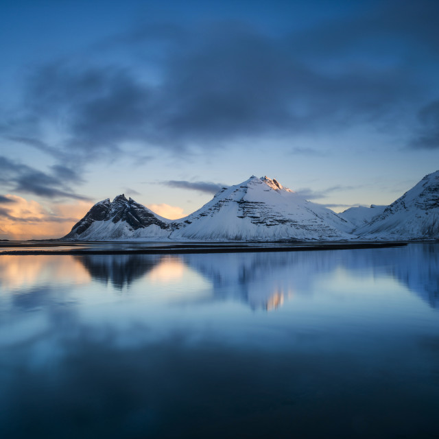 """Sunset, Vestrahorn, Iceland"" stock image"