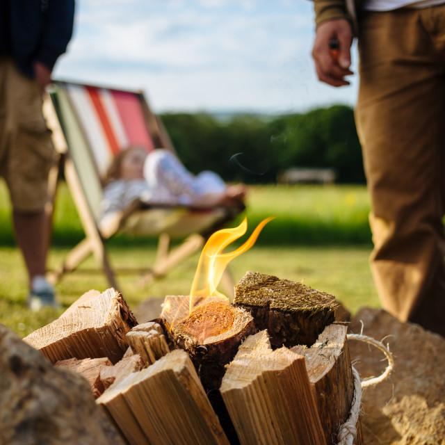 """""""Camp fire"""" stock image"""