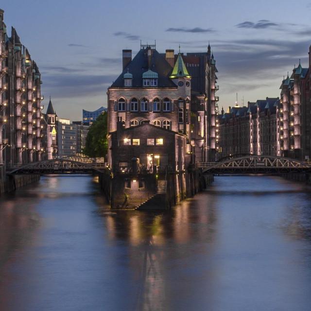 """""""Hamburg Hafencity"""" stock image"""