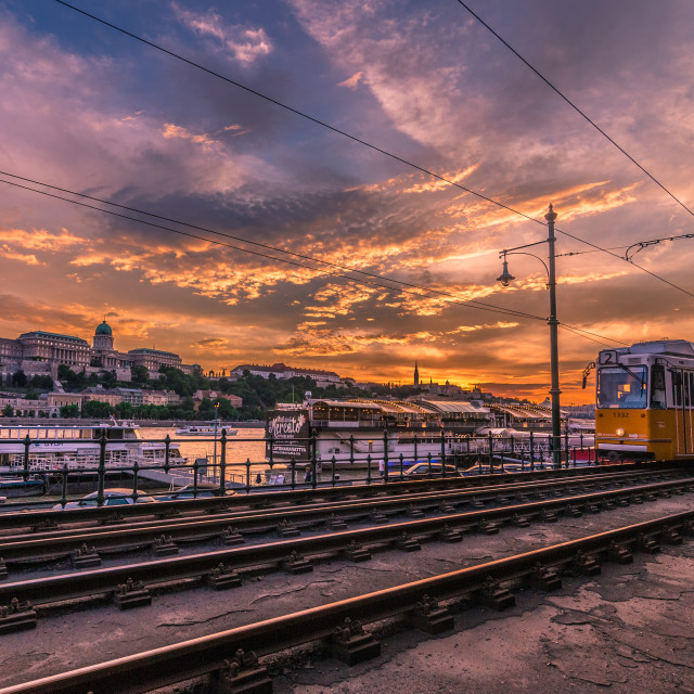 """Sunset in Budapest"" stock image"