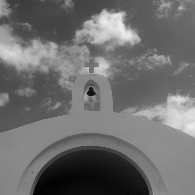 """""""The bell on the Agios Nikolaos Church"""" stock image"""