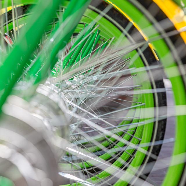 """Electric Bikes"" stock image"
