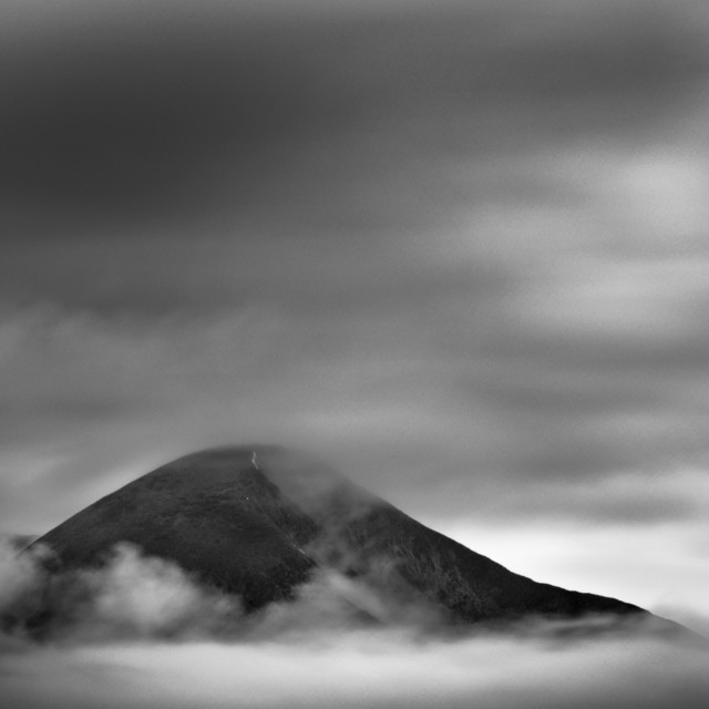 """""""Clouds rolling around the mountain"""" stock image"""